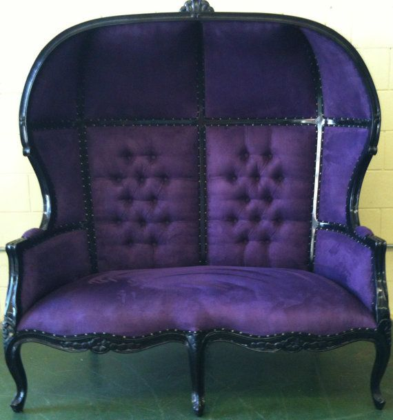 This is too cute! - Blue and Purple Porters #Sofa #Chair Domed Bonnet Throne King Chair Lunge. #goth