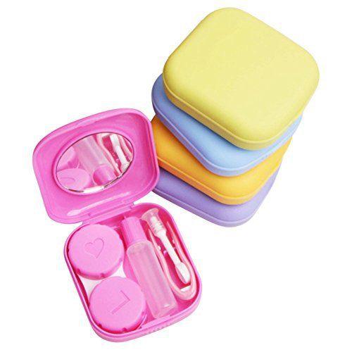 Demarkt Mini Kit de Voyage Boite à Lentilles de Contact Couleur Aléatoire: Idéal pour les weekends ou les vacances Convient aux lentilles…