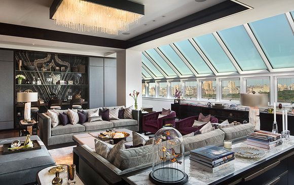 The palace hotel new york city triplex penthouse for New york city penthouses central park