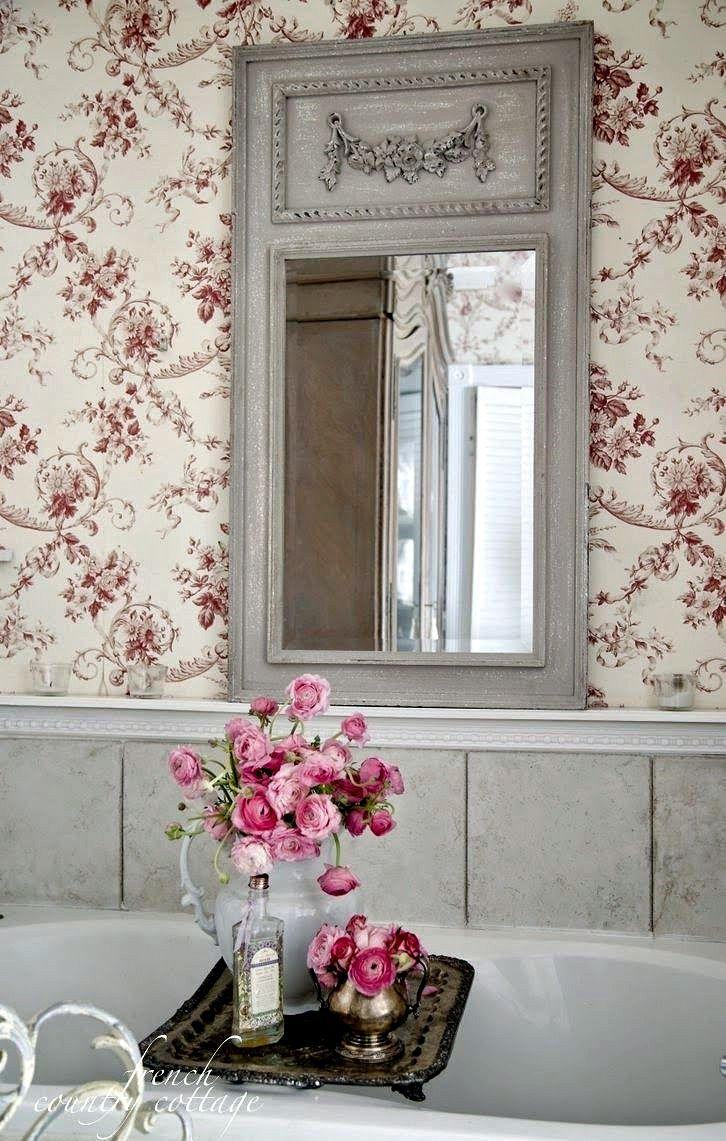 587 best images about french country on pinterest for French shabby chic bathroom ideas