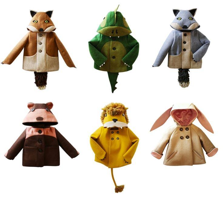 kids animal winter coats by Little Goodall