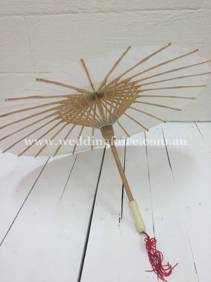Childs Oriental Parasol - Ivory - The Wedding Faire