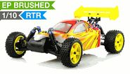 Exceed RC Off Road Buggy Radio Car 1/10 2.4Ghz Electric Powered SunFire RTR Ready to Run Off Road Buggy Fire Red RC Remote Control Car