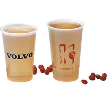 Imprintable plastic cups.... Great idea for weddings, parties, bbqs, charity events etc!!!  Cheap too!!