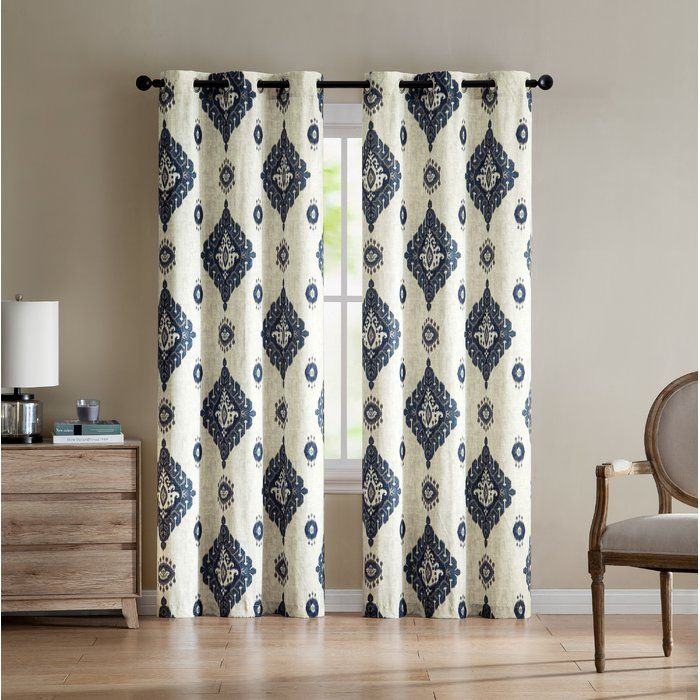 The Nola Damask Blackout Grommet/Eyelet Panel Pair has a beautiful all over pattern. This intricate pattern will bring an admired look to your window pane.