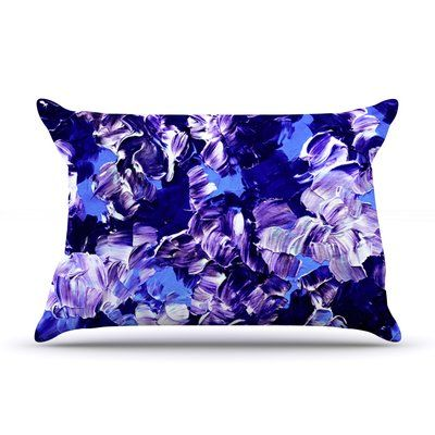 East Urban Home Ebi Emporium 'Floral Fantasy' Pillow Case Color: Purple