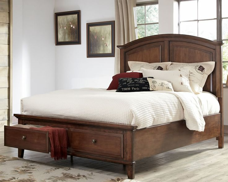 Ashley Furniture Storage Bed Burkesville Rustic Burnished Brown Panel Bed With Storage