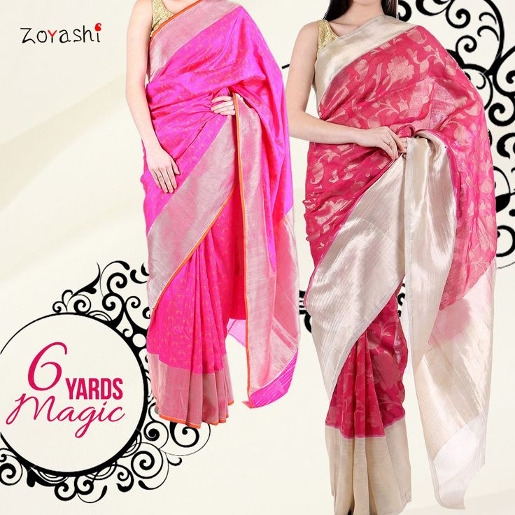 The Six Yards Magic!! #SixYards #Magic #with #Zoyashi #RockThisLookWithZoyashi #PinkBlush #HandmadeWithLove #Saree #Indian #MadeInIndia