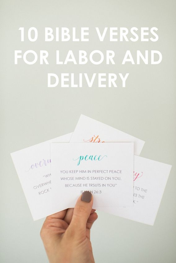 10 Bible Verses for Labor and Delivery