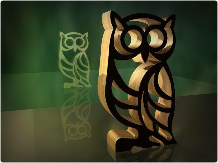 owl - KeyCreator,STEP / IGES,STL,Autodesk Inventor - 3D CAD model - GrabCAD