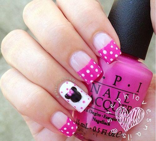 LOVE! Cute Minnie mouse nails