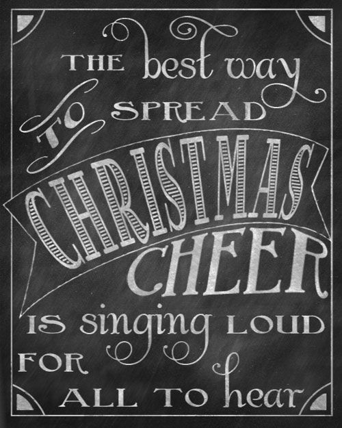 Christmas Chalkboard Printables via @Talitha {Love, Pomegranate House}