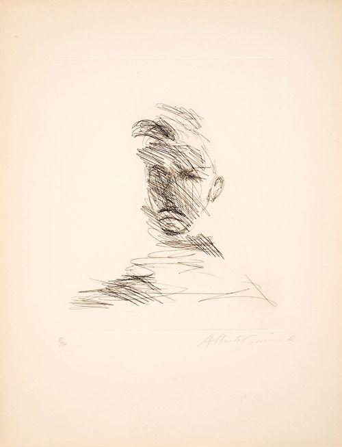 Alberto Giacometti- Portrait of Rimbaud (1962) A Thousand...
