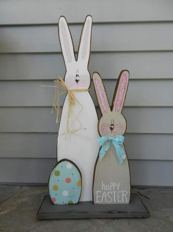 Standing Bunny/Wooden Easter Display/Easter Prim/Country Easter/Bunny Cutout/Made PER Order NOT ready to ship
