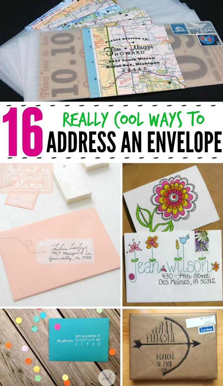 16 Really Cool Ways to Address an Envelope - fun mail art!