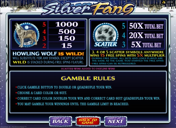 Silver Fang - Online Video Slot