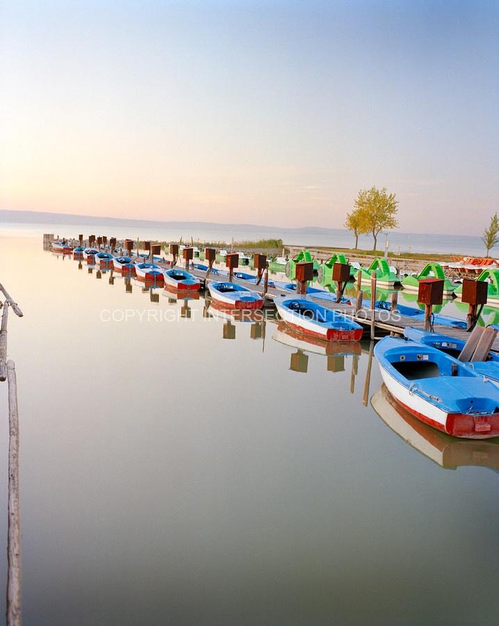 so pretty ... AUSTRIA, Podersdorf, boats for hire, Lake Neusiedler See, Burgenland