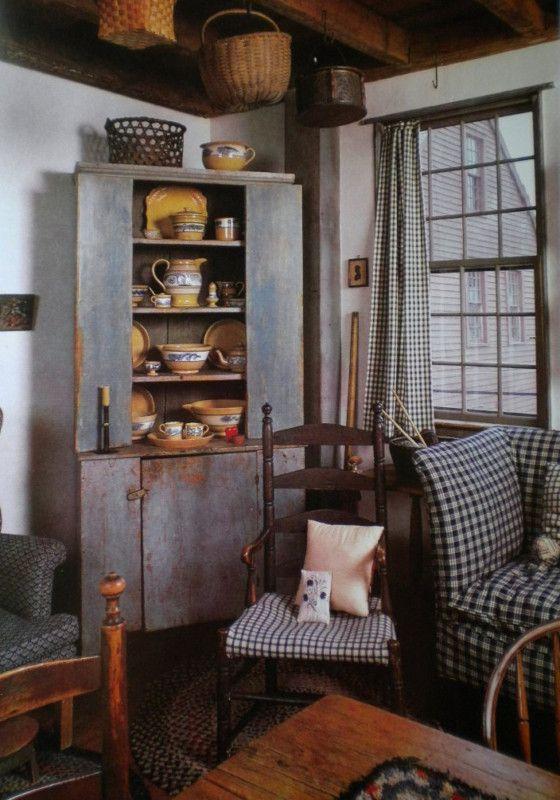 202 Best Primitive Livingroom Images On Pinterest Country Primitive Primitive Folk Art And
