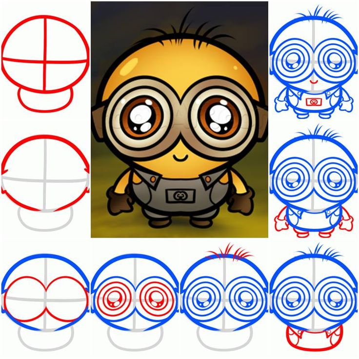 How To Draw a Chibi Minion step by step DIY tutorial