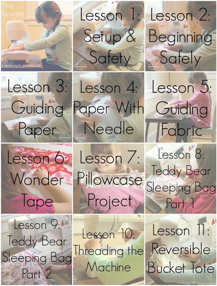 Tiny Sewists: A Summary of Lessons to teach your child to sew