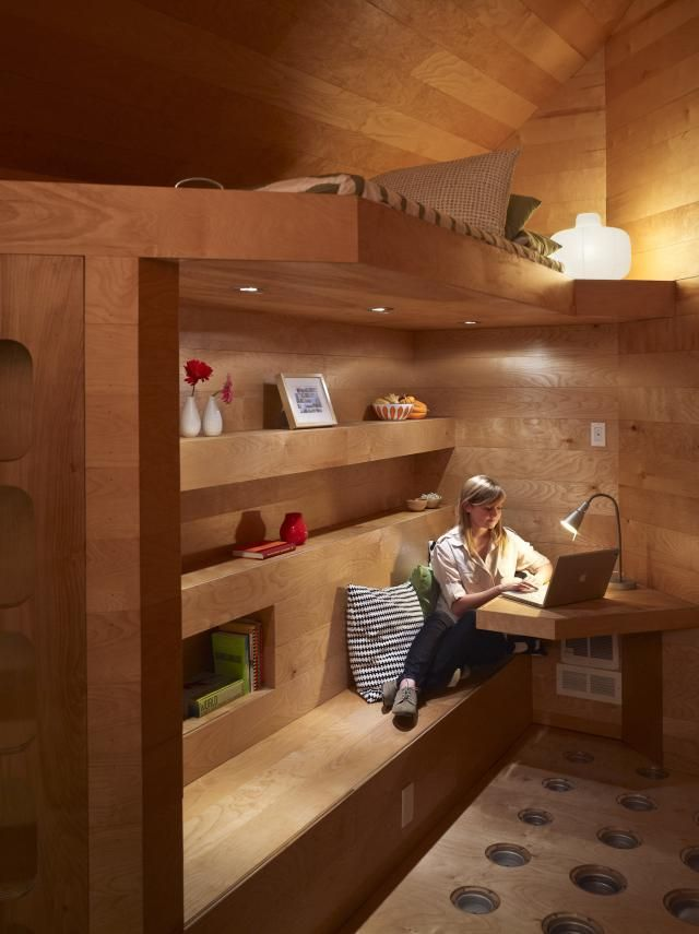 6 Seriously Stylish Loft Beds for Adults: The Pod Home comes with a built-in loft bed.