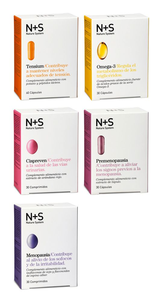 N+S vitamins packaging