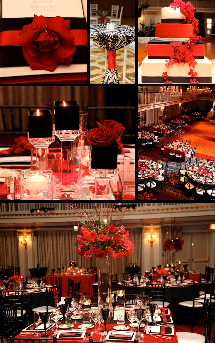 Red and Black wedding