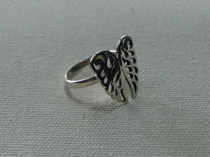 Silver Ring, wing, Handmade Sterling Silver, Wire Silver Ring, 925 Sterling Silver,Simple rings. by MoyokSilver on Etsy