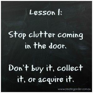 Come home with nothing, refuse swag and trinkets. Pass on Branded items, pens, give-aways.  Avoid Dollar Stores, Outlet Stores and Gift Stores.