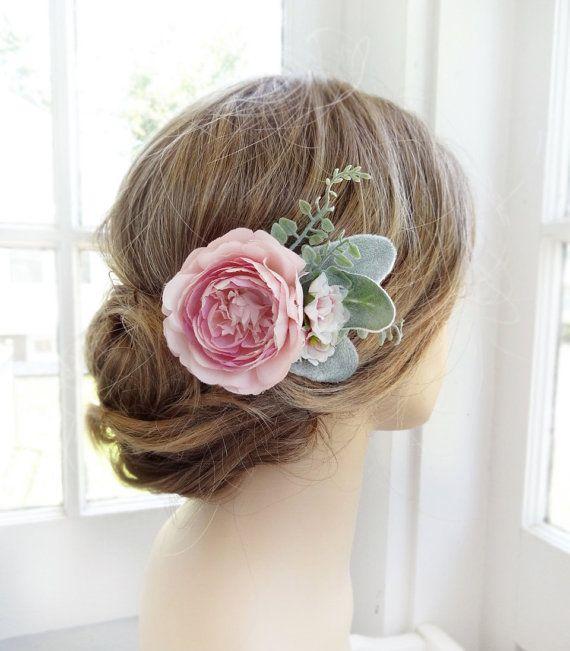 rosa fiore dei capelli, clip di capelli nuziale, matrimonio copricapo, clip di…