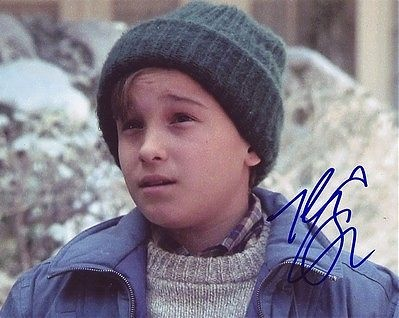 A very young JOHNNY GALECKI signed *CHRISTMAS VACATION*