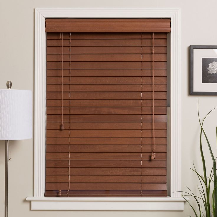 Safe-er-Grip Customized 32-inch Real Wood Window Blinds (Pecan (32X68)), Brown, Size 32 x 68