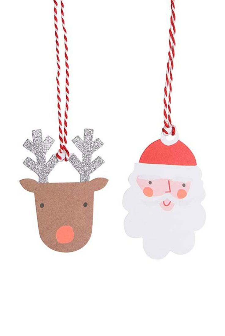 Bring christmas character to your gift by using the pretty gift tags!  Buy Meri Meri - Gift Tags - Pack of 8 - Santa & Reindeer - NoteMaker Stationery. NoteMaker.com.au