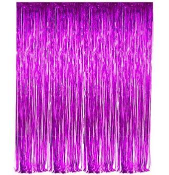 Purple Fringe Curtain - Bachelorette Party Decoration