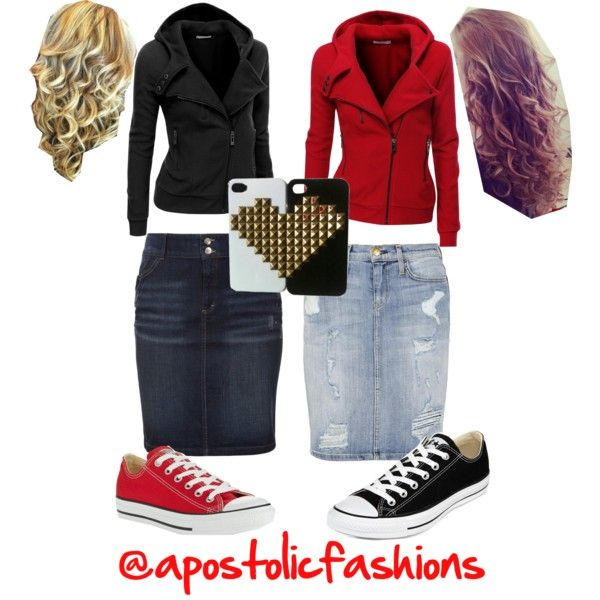 Apostolic Fashions #422 by apostolicfashions on Polyvore featuring polyvore, fashion, style, Doublju, s.Oliver, Current/Elliott and Converse