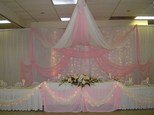 Decoration wedding decorations and wedding backdrops on for Backdrop decoration ideas
