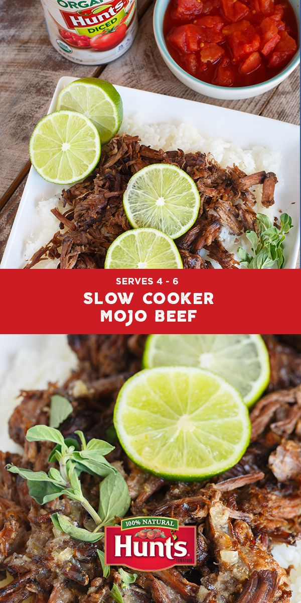 Up the flavor in your slow cooker repertoire. Try Table for Two's mojo beef, slow cooked in tomatoes, citrus and spices, for a fuss free dinner that tastes otherwise.
