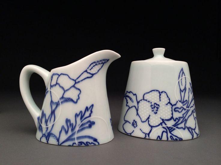 Meredith Host - Floral Print Cream & Sugar Set
