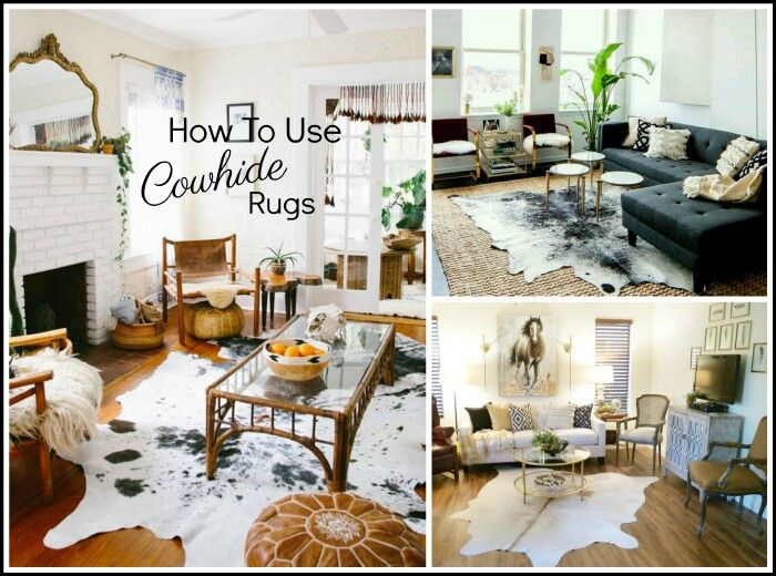 How To Use Cowhide Rugs Tips A Stroll Thru Life Cow Hide Rug Cowhide Rug Living Room Hide Rug Living Room