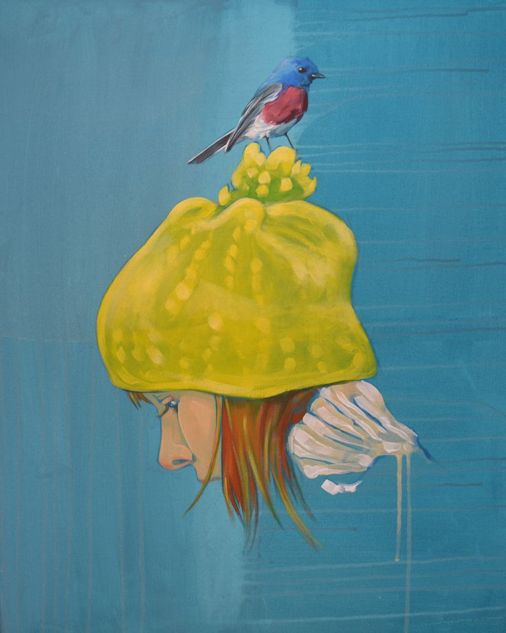 'Bobble hat n Bird 3' £1,700.00  By MARTIN VARENNES-COOKE - Original acrylic on canvas 61 cm by 76 cm  http://www.deepwestgallery.co.uk/product-page/83736074-8531-3af0-374d-96e5275f9fa8
