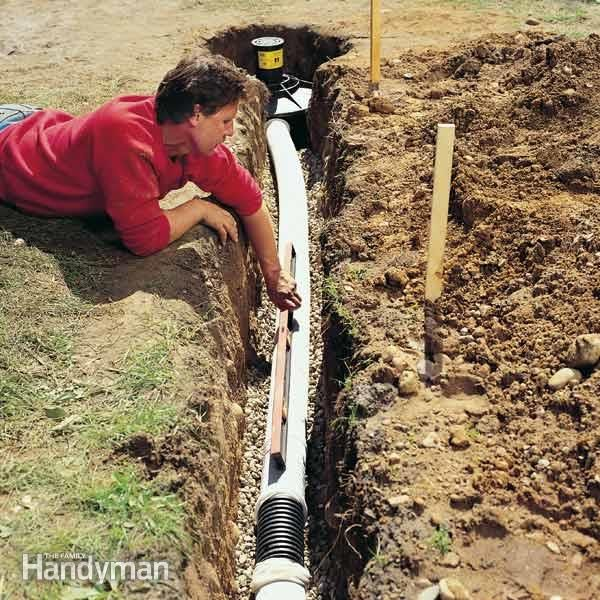 97 best dry creek bed french drain images on pinterest for House drainage system ppt