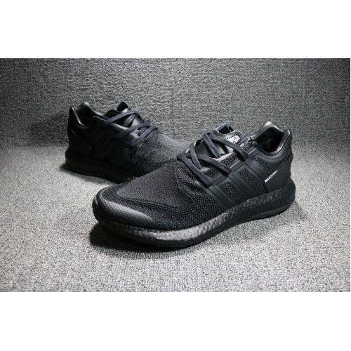 best cheap c0d07 09844 adidas Y-3 Pure Boost Triple Sort BY8958 Maend Sko Til Salg