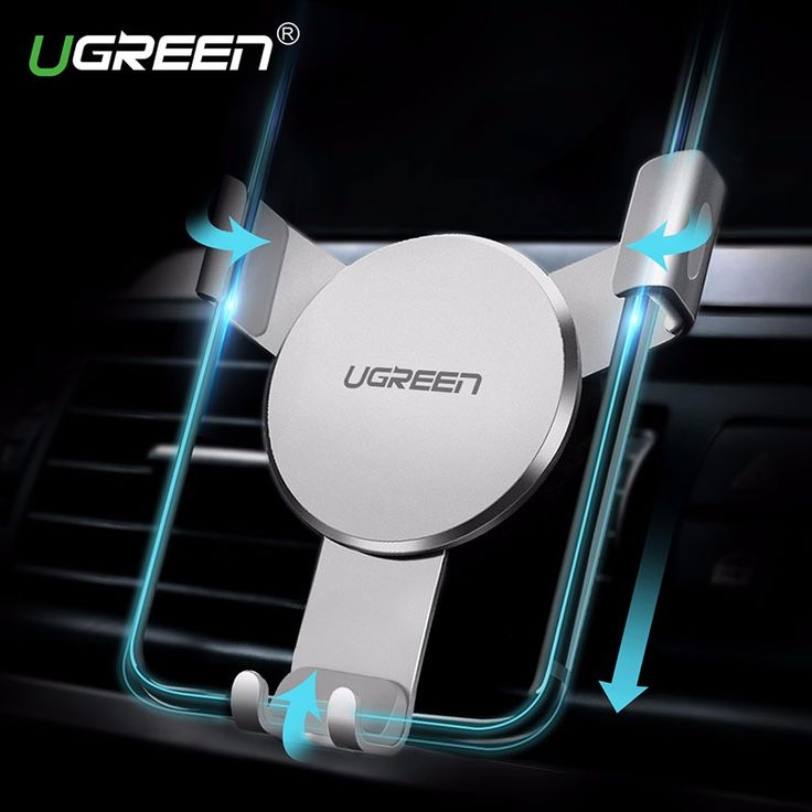 Ugreen Gravity Reaction Car Holder Phone Stand Universal Air Vent Mount Clip Cell Phone Holder for iPhone 7 Samsung Xiaomi GPS