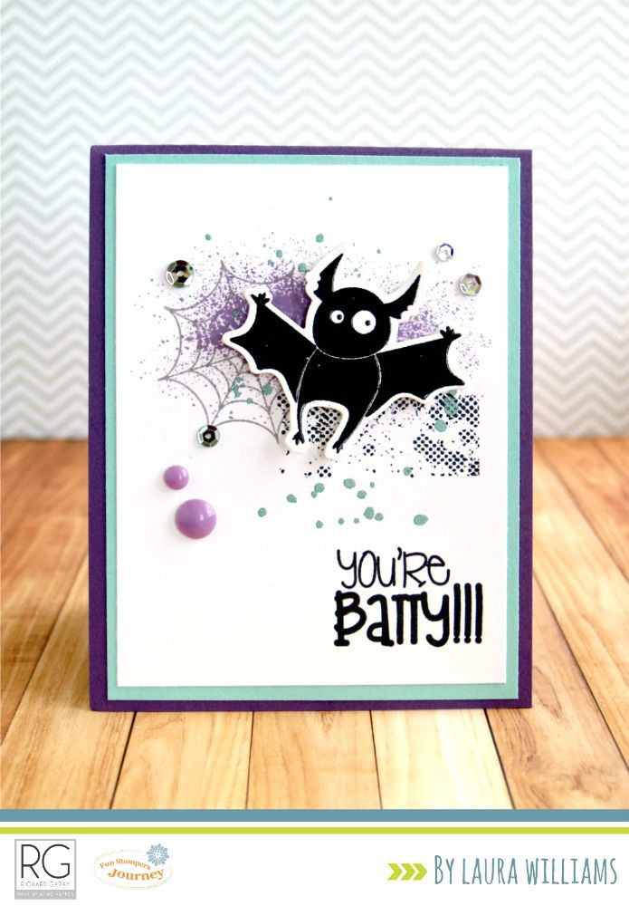 lauralooloo: You're Batty Halloween Card {Fun Stampers Journey}