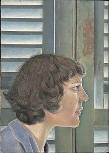 Lucian Freud - Wikipedia 🔸Portrait of Kitty, 1948-49, an early portrait of his wife Kitty Garman