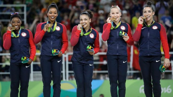 The U.S. women's gymnastics team has won gold at the 2016 Olympic Summer Games in Rio de Janeiro. Simone Biles, Gabby Douglas, Aly Raisman, Laurie Hernandez and Madison Kocian defended the USA's gold medal title in the the team all-around. Meet the team: Simone Biles Age: 19 Hometown:...