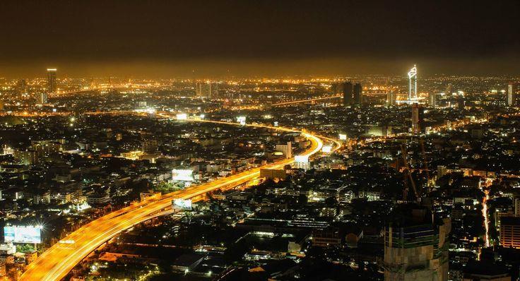Bangkok cityscape at night. Night time photography. #travelphotography #photography #travel #thailand