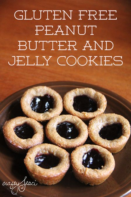 Gluten Free Peanut Butter and Jelly Cookies from Crafty Staci
