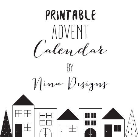Calendario De Adviento Imprimible
