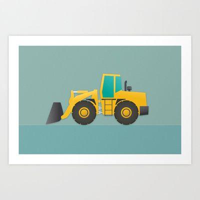 Loader Art Print by Ian Jackson - $18.00Society6.com